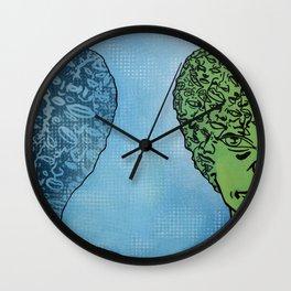 Mirror Shadow Wall Clock