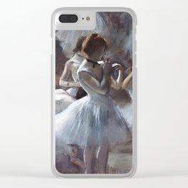 Dancers by Edgar Degas Clear iPhone Case