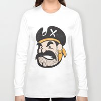 pirates Long Sleeve T-shirts featuring Pirates by John Trivelli