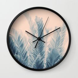 Tropical Leaves Dream #4 #tropical #decor #art #society6 Wall Clock