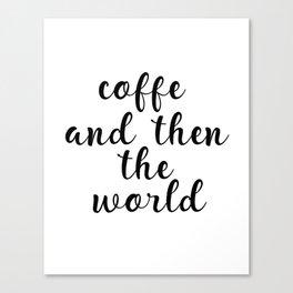 Coffee Bar Decor, Coffee Sign, Kitchen Decor, Kitchen Wall Art Canvas Print