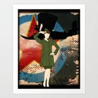 army Art Prints featuring Army Girl by Aleksandra Mikolajczak