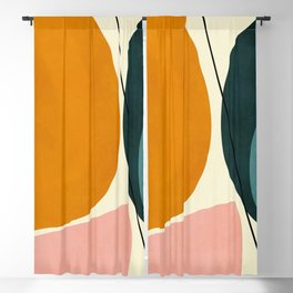 shapes geometric minimal painting abstract Blackout Curtain