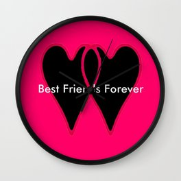 Best Friends Forever jGibney The MUSEUM Gifts society6  Wall Clock