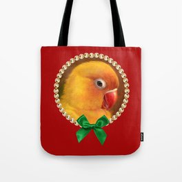 Fischer lovebird realistic painting Tote Bag