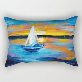 Sailing Away Rectangular Pillow