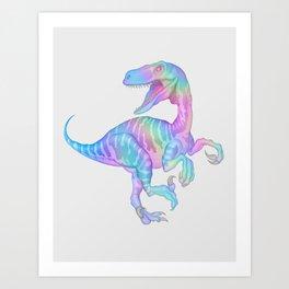 Iridescent T-Rex Art Print