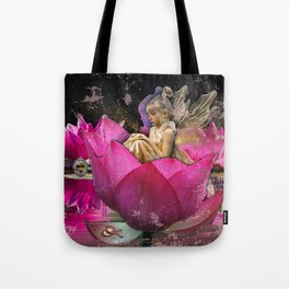 Fairy in a lotus Tote Bag