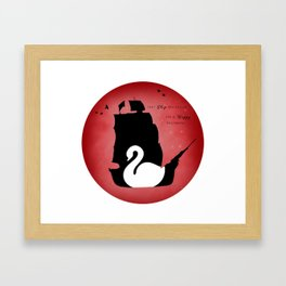 CAPTAIN SWAN (Red) Framed Art Print