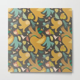 The powerful and yelow spring is coming Metal Print