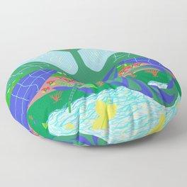 The era of  dragonflies Floor Pillow