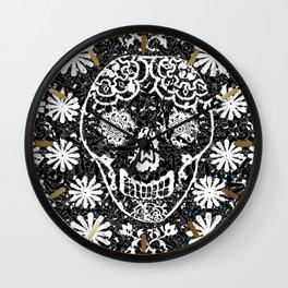Tribal Sugar Skull Wall Clock