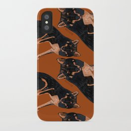 Black dingo (c) 2017 iPhone Case
