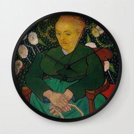 Vincent van Gogh - La Berceuse (Woman Rocking a Cradle; Augustine-Alix Pellicot Roulin, 1851–1930) Wall Clock