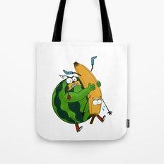 Fruits Wrestling Tote Bag