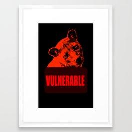 Vulnerable Fossa Framed Art Print