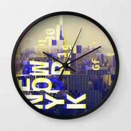 GLITCH CITY #00 NEW YORK Wall Clock
