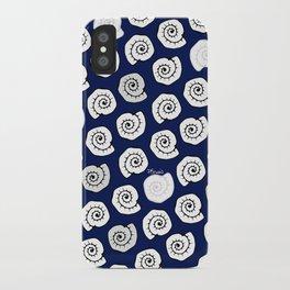 seashell - pop blue pattern iPhone Case
