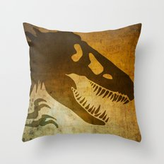 Jurassic Minimalist Throw Pillow