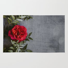 The Red Roses (Color) Rug