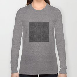 Flickering geometric optical illusion Long Sleeve T-shirt