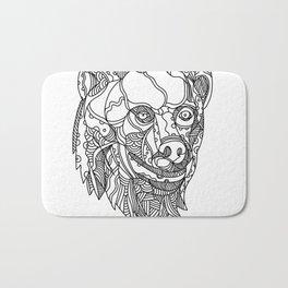 Brown Bear Head Doodle Bath Mat