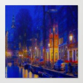CITY CANAL Canvas Print