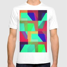 Colorful Truth. Green. Mens Fitted Tee MEDIUM White