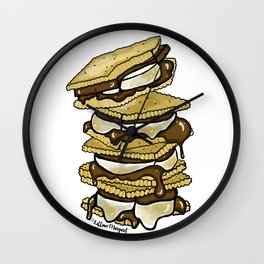 Stack of S'mores Wall Clock