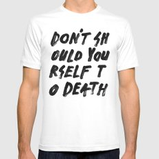 SHOULD Mens Fitted Tee MEDIUM White