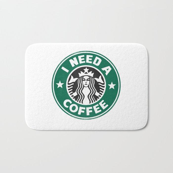 I need a coffee! Bath Mat