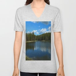 Tranquil Morning At Gull Point Drive Unisex V-Neck