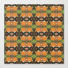 Royal Poinciana Orange Petals OP Pattern Canvas Print