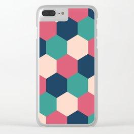Retro Tiles Clear iPhone Case