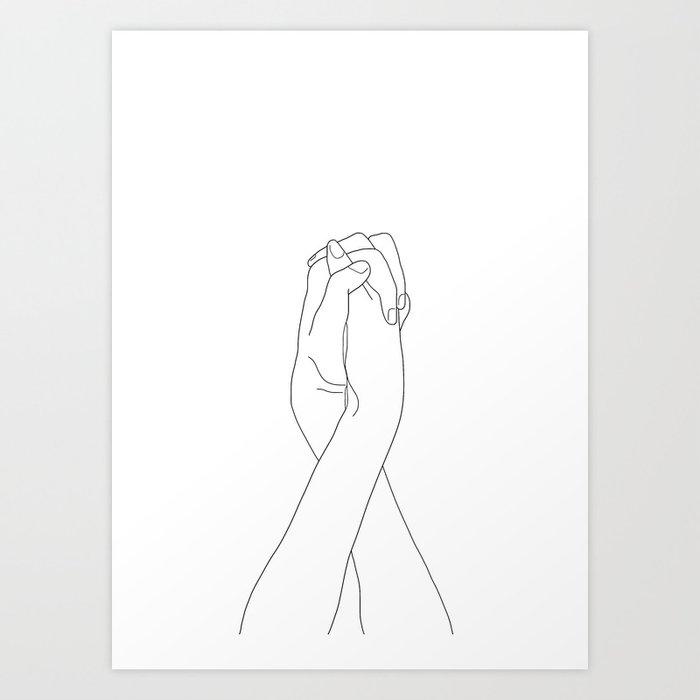 Never Let Me Go II Art Print