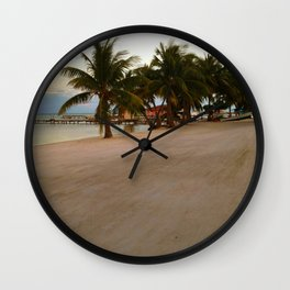 An Afternoon on the Beach Wall Clock