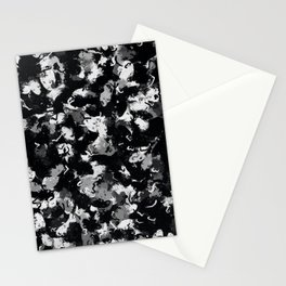 Shades of Gray and Black Oils #1979 Stationery Cards