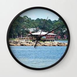 Port St. Joe Marina view 12 Wall Clock