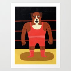 Dog Wrestler Art Print