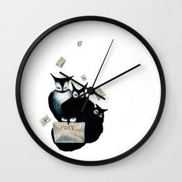 The Owl Postal Service Wall Clock
