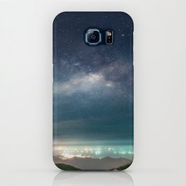 Milky Way over Hong Kong Lights iPhone Case