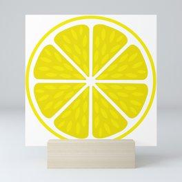 Fresh juicy lime- Lemon cut sliced section Mini Art Print