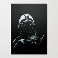 bane Canvas Prints featuring Bane by Vanessa Leach