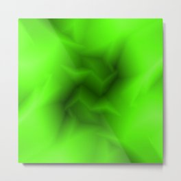 Bright lines of green funnels with a voluminous gap. Metal Print
