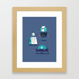 :::Mini Robot-Nanoi::: Framed Art Print