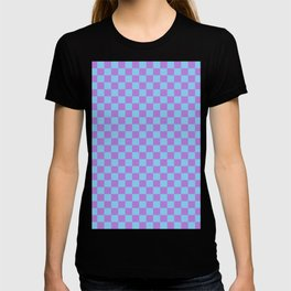 Lavender Violet and Baby Blue Checkerboard T-shirt