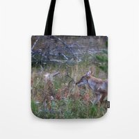 coyote Tote Bags featuring Coyote by Stu Naranch