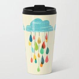 cloudy with a chance of rainbow Travel Mug