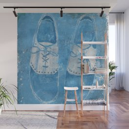 Blue Shoes Wall Mural