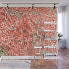 Mexico city map classic Wall Mural